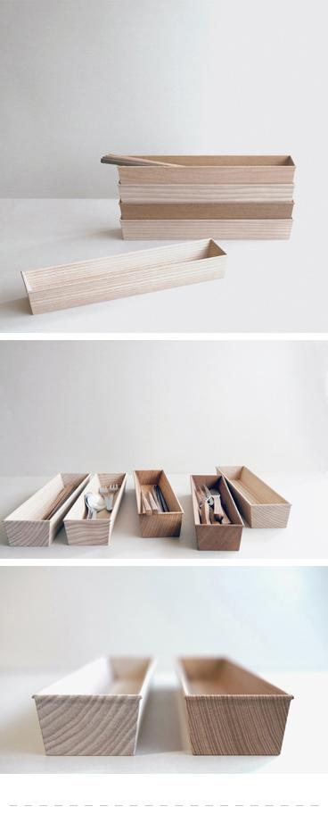 東屋が箸やカトラリーの収納用に四十沢木材工芸に依頼した箸箱