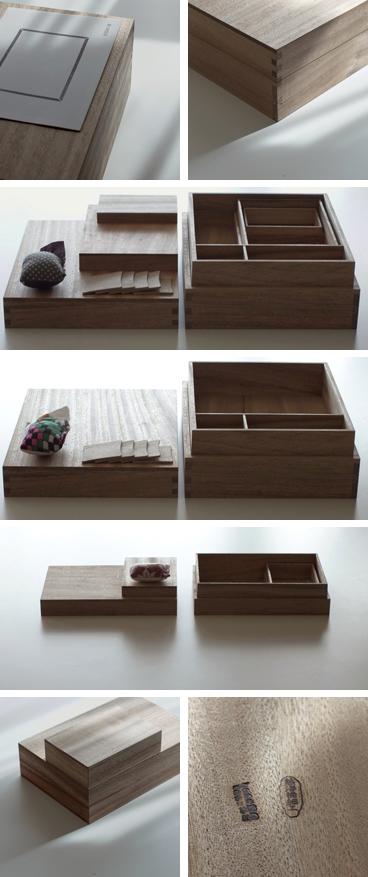 楠、指物の裁縫箱