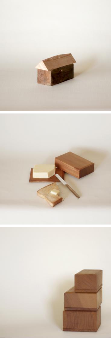 山桜のバターケース、真鍮のバターナイフ