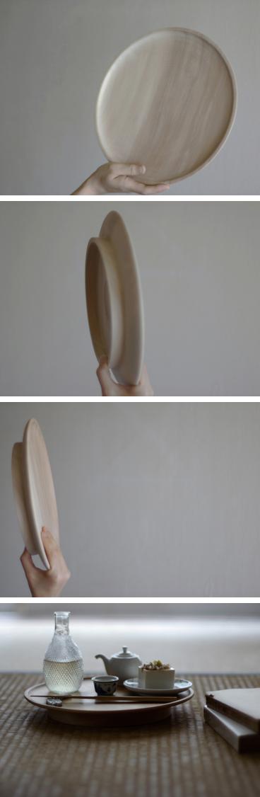 無垢材の栃のお盆