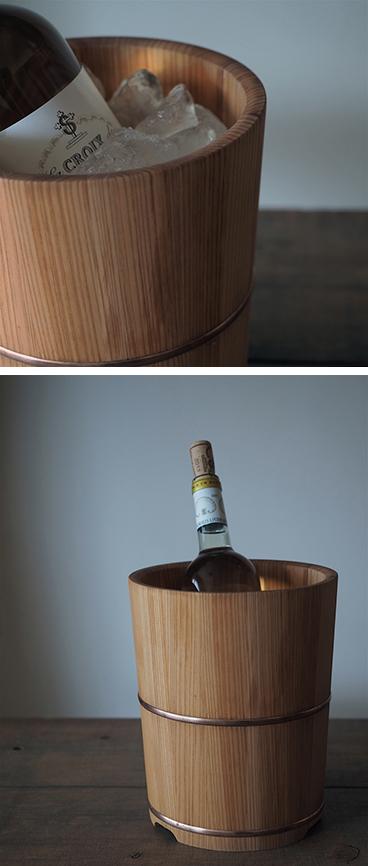 木曽椹のワインクーラー