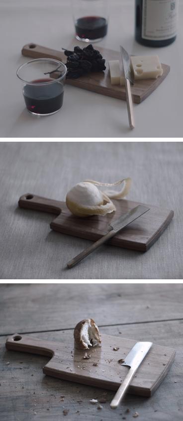 山桜のチーズボードと関のチーズナイフ