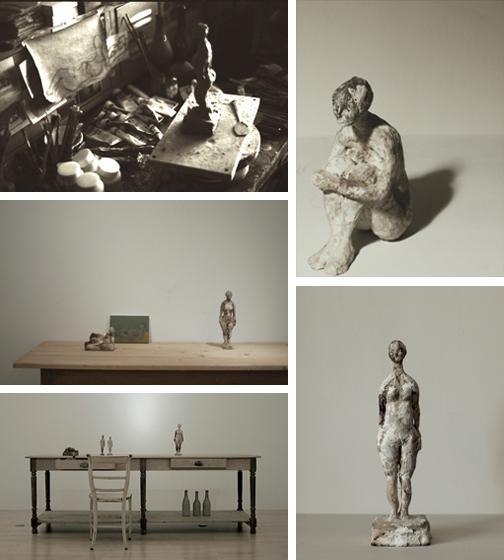 立花英久の塑像展展